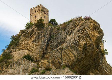 The old tower of Roccascalegna in Abruzzo