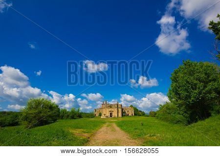 Church of San Bonaventura, Monterano, Lazio, Italy