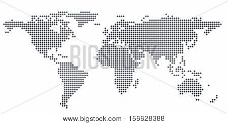 Texture world map from circle. 3d illustration