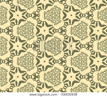Seamless abstract vegetable wall-paper marsh and sand. A one-color pattern a print for fabric interior design a background. Basis for design.