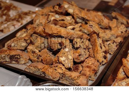 Typical Italian Biscuit With Almond: Crumbly Cantucci From Tuscany