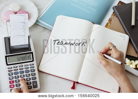 Connection Corporate Teamwork Collaboration Concept
