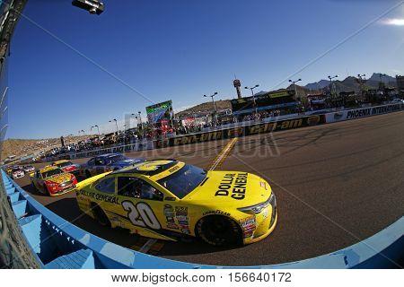 Avondale, AZ - Nov 13, 2016: Matt Kenseth (20) battles for position during the Can-Am 500(k) at the Phoenix International Raceway in Avondale, AZ.