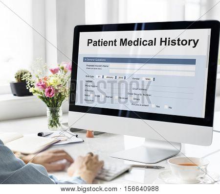 Patient Medical History Form Concept