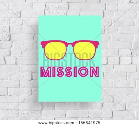 Mission Strategy Inspiration Icon Concept
