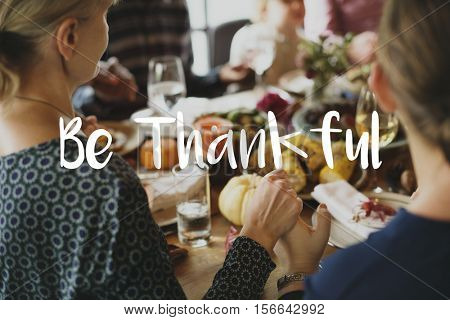 Blessed Meal Thankful Grateful Porridge Religion Concept