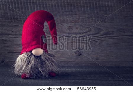 Santa Claus decoration on a wooden background