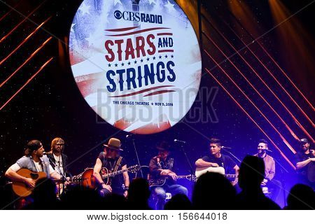 CHICAGO-NOV 9: Chase Rice performs at CBS Radio's Stars & Stripes event at the Chicago Theatre on November 9, 2016 in Chicago, Illinois.