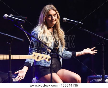 CHICAGO-NOV 9: Kelsea Ballerini performs at CBS Radio's Stars & Stripes event at the Chicago Theatre on November 9, 2016 in Chicago, Illinois.