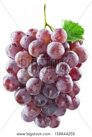 Bunch of red grapes. Clipping paths.