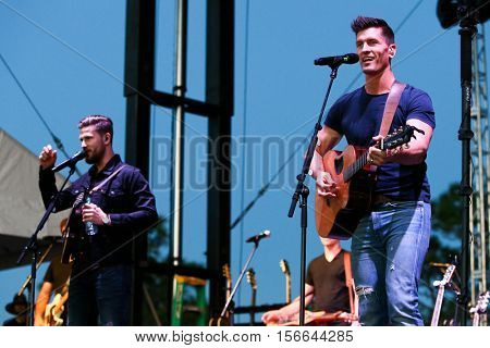 LAKE WALES, FL-NOV 5: Curtis Rempel (L) and Brad Rempel of High Valley perform at the CountryFlo Music and Camping Festival on November 5, 2016 in Lake Wales, Florida.