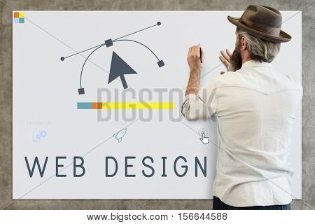 Responsive Design Website Template Layout Concept