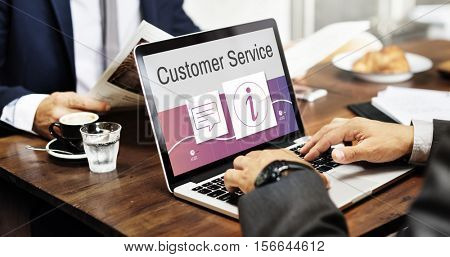 Information Customer Service Help Desk Concept
