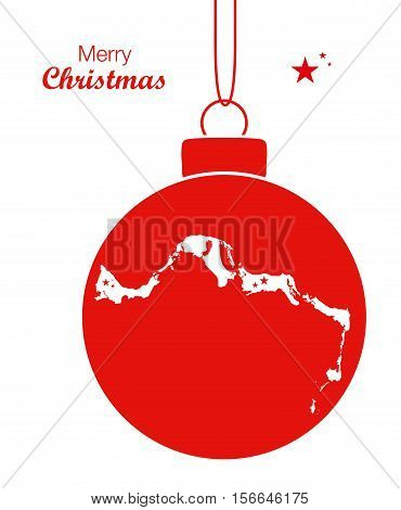 Merry Christmas Illustration Theme With Map Of Turks And Caicos Islands