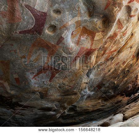 Cave paintings and petroglyphs Laas Geel near Hargeisa Somalia