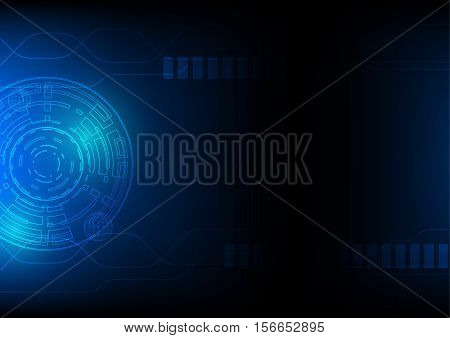 Technology abstract background in blue, hi-tech sci-fi cyberspace theme concept, vector eps 10 illustrated
