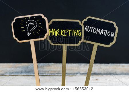 Concept Message Marketing Automation And Light Bulb As Symbol For Idea