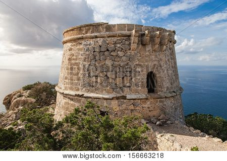 The pirate watchtower near to Es Vedra on the island of Ibiza