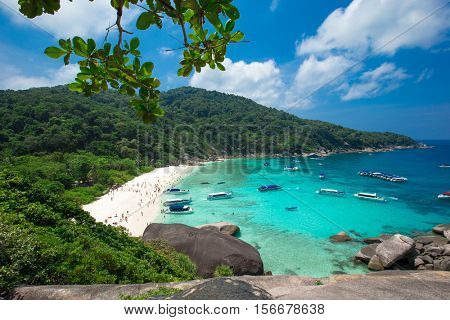 Phang Nga, Thailand-Mar 15, 2013 : clear water beautiful sea like a heaven at Similan island, Phang-nga Thailand