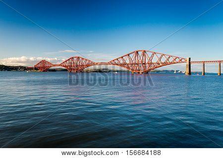 Firth of Forth Bridge in summer, Scotland