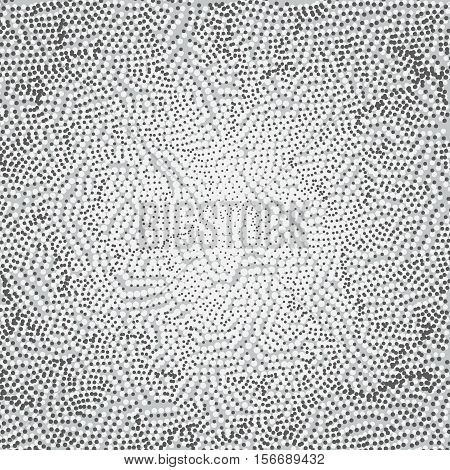 Abstract technology pattern with multiple dot particles. Colorful particle grid background. Vector futuristic illustration. Digital matrix illustration.