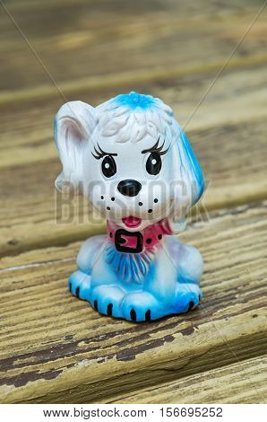 Rubber dog toy for young children mottled color