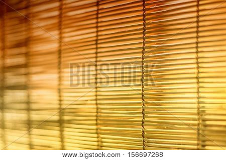 Brown and yellow jalousie curtain texture background