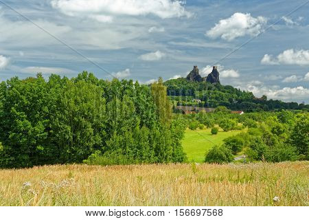 Ruins Of Medieval Gothic Castle Trosky