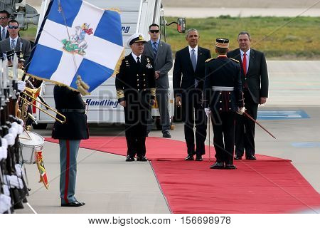 President Barack Obama Arrives At The Athens