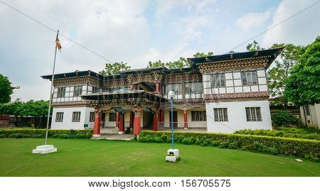 Traditional Bhutanese Buddhist House