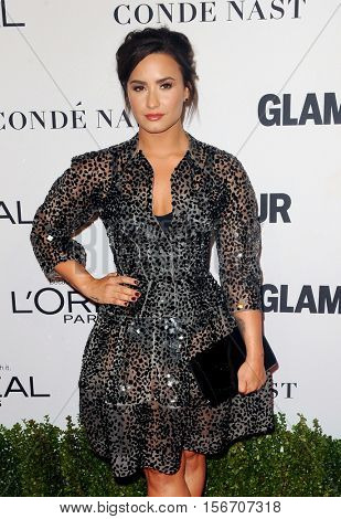 Demi Lovato at the Glamour Women Of The Year 2016 held at the NeueHouse in Hollywood, USA on November 14, 2016.