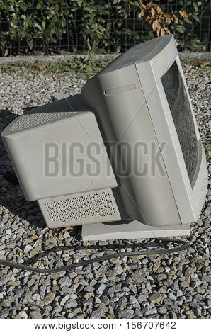View of a VGA monitor of the nineties