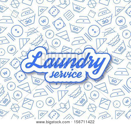 Laundry service vector illustration on white background