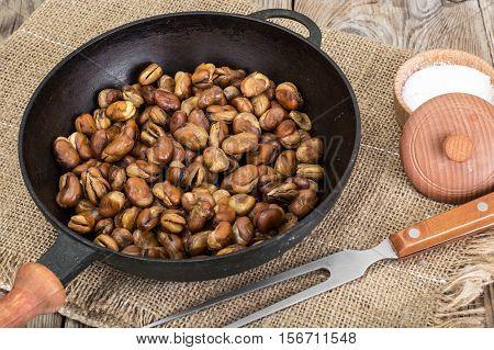 Roasted Broad Beans with Salt Studio Photo