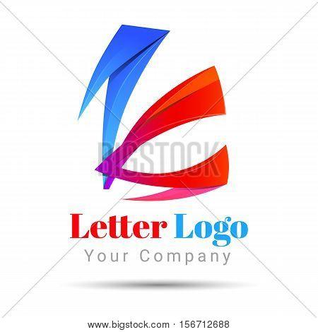 Letter K logo icon Volume Logo Colorful 3d Vector Design Corporate identity