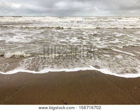 High tide coming in on Scarborough beach