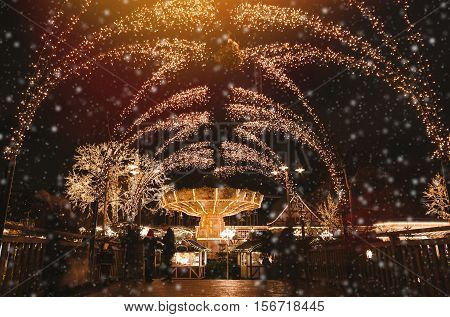 Christmas selebrations in Sweden at december night