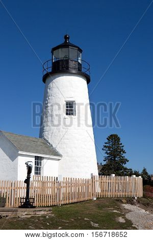 Pemaquid Point Lighthouse is located in the town of Bristol Maine USA.