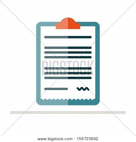 Prescription pad icon. Medical prescription vector illustration. Prescription in flat style. Rx prescription form.
