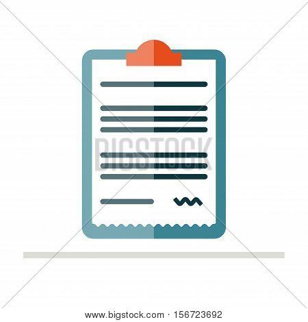 Prescription pad icon. Medical prescription vector illustration. Prescription in flat style. Rx prescription form.