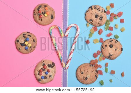 Chocolate Chip Cookies And Candies