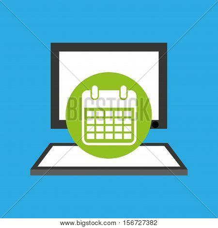 pc device network calendar media icon vector illustration eps 10
