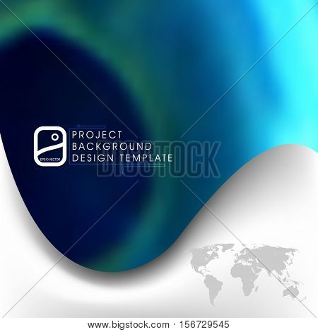 Blurred images in background, business material concept, eps10 vector design