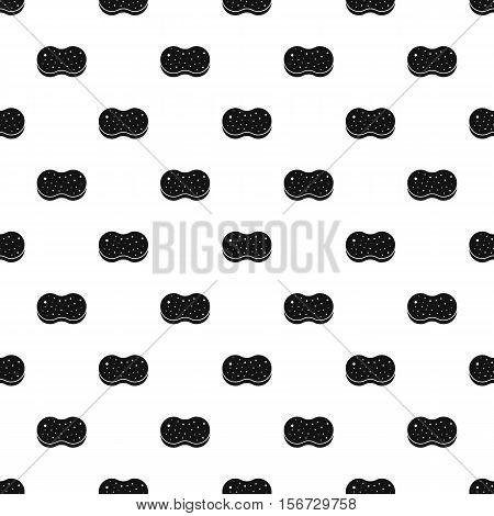 Sponge pattern. Simple illustration of sponge vector pattern for web