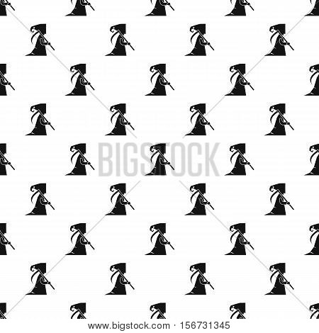 Grim reaper pattern. Simple illustration of grim reaper vector pattern for web
