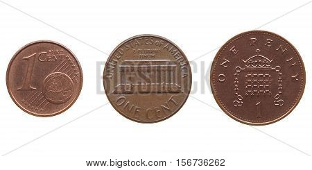 Coin Isolated Over White