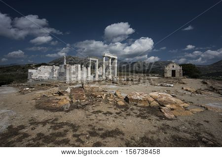 Temple of Demeter at in Naxos Greece