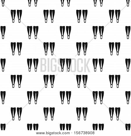 Flippers pattern. Simple illustration of flippers vector pattern for web
