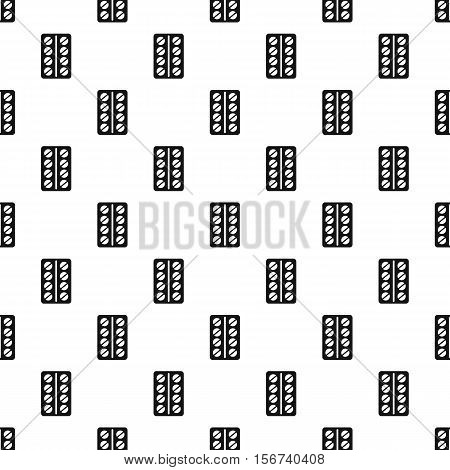 Round pills in a blister pack pattern. Simple illustration of round pills in a blister pack vector pattern for web