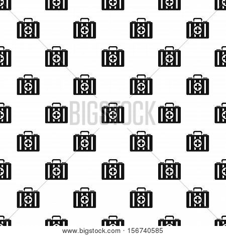 First aid kit pattern. Simple illustration of first aid kit vector pattern for web